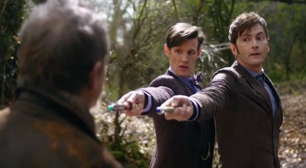 "War Doctor: ""Why are you pointing you screwdrivers like that? They're scientific instruments, not water pistols!"""
