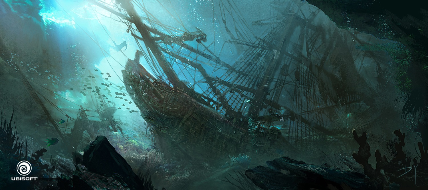 Octopus Shipwreck Drawing Assassins Creed IV: Bl...
