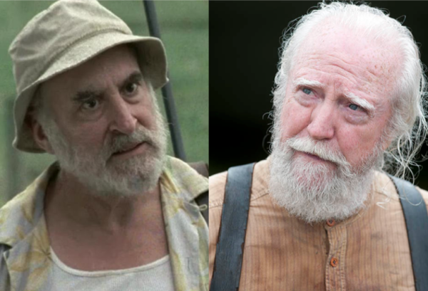 Dale (on the left) and Hershel (on the right)