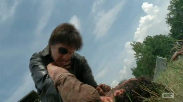 The Governor tries to silence Rick once and for all by strangling him