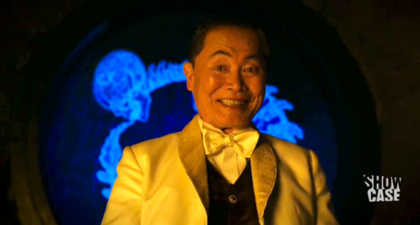 George Takei becomes the frightening yet charitable serpentine Fae Engelram.