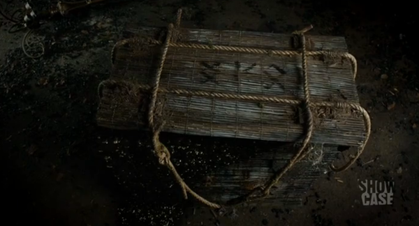 A strange box sent by the Una Mens oozes strange black sludge in one of the closing moments of this episode. Signs of things to come?