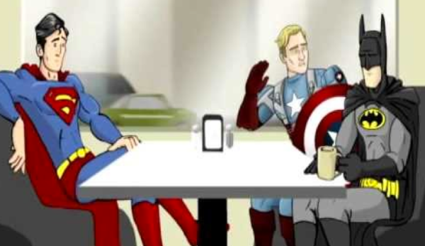 Batman, Superman and Captain America have coffee in this 'How It Should Have Ended' short.