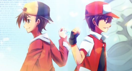 And so Red - the protagonist of Pokemon Red - passes his legacy onto Gold - the male protagonist of Pokemon Crystal.