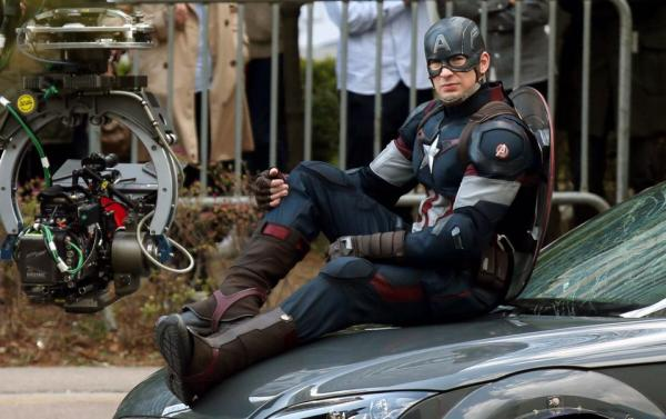 Look at that Avengers 'A' on left shoulder of Captain America's few costume!