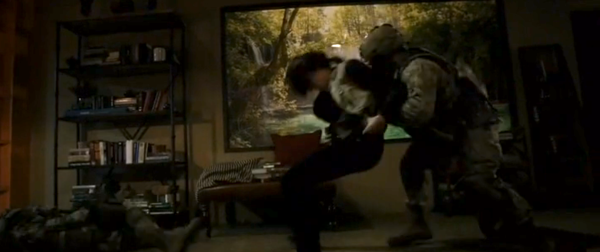 And here is one more shot of Maria Hill kicking but - because it was awesome.
