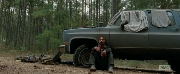 """Darryl, you saw what I did to Tyreese. It ain't all of it, but that's me. That's why I'm here now. That's why Carl is. I want to keep him safe. That's all that matters."" - Rick"