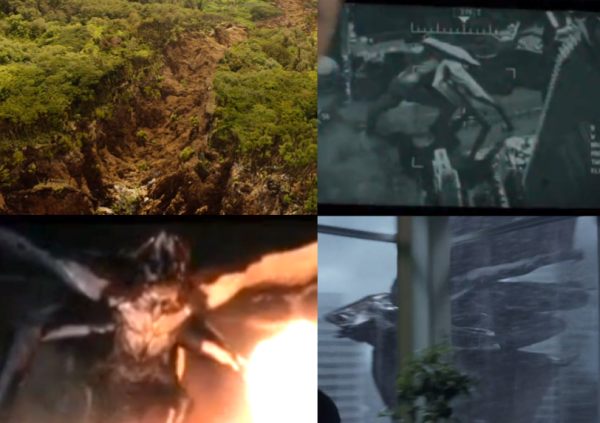 Could this be the evolutionary progress of the same monster throughout the film?