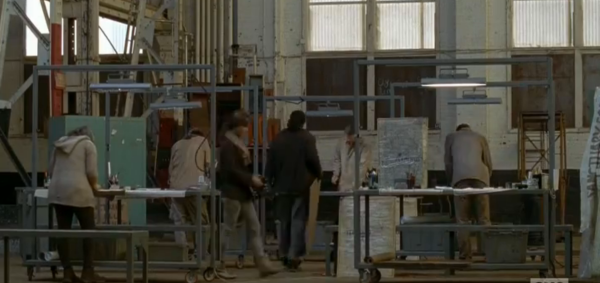 What exactly goes on on this side of Terminus? It looks like they're mapping areas and making signs. Setting more traps I bet.