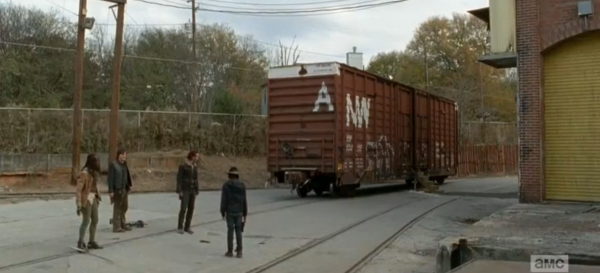 "In case you were wondering, the episode title ""A"" refers to the train car they all end up in."
