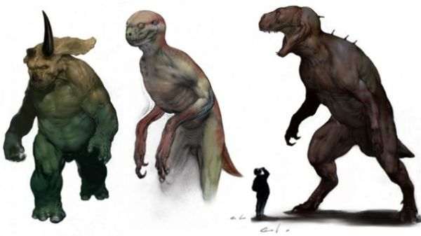 This concept art was rumored to originally be for Jurassic Park 4 before it was scrapped. Looks like they were going for WTF from the start.