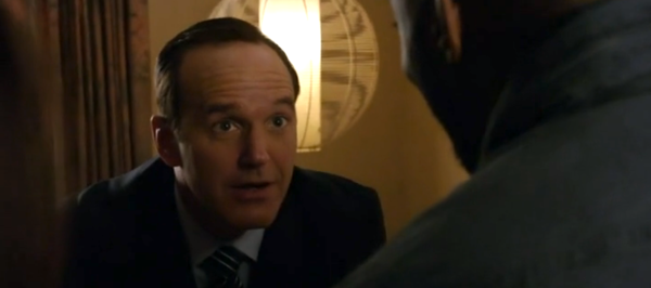 Fanboy Coulson and Triplett nerding out