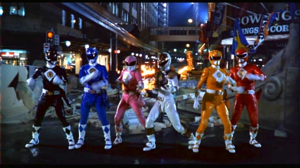 How the Power Rangers looked in their 1995 film