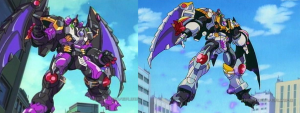 Megatron compared to Galvatron in Transformers: Robots in Disguise