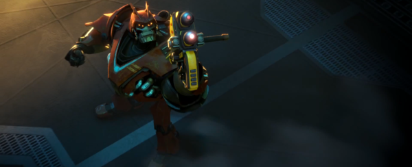 That robot! That weapon. I can't help but feel I've seen them both before.