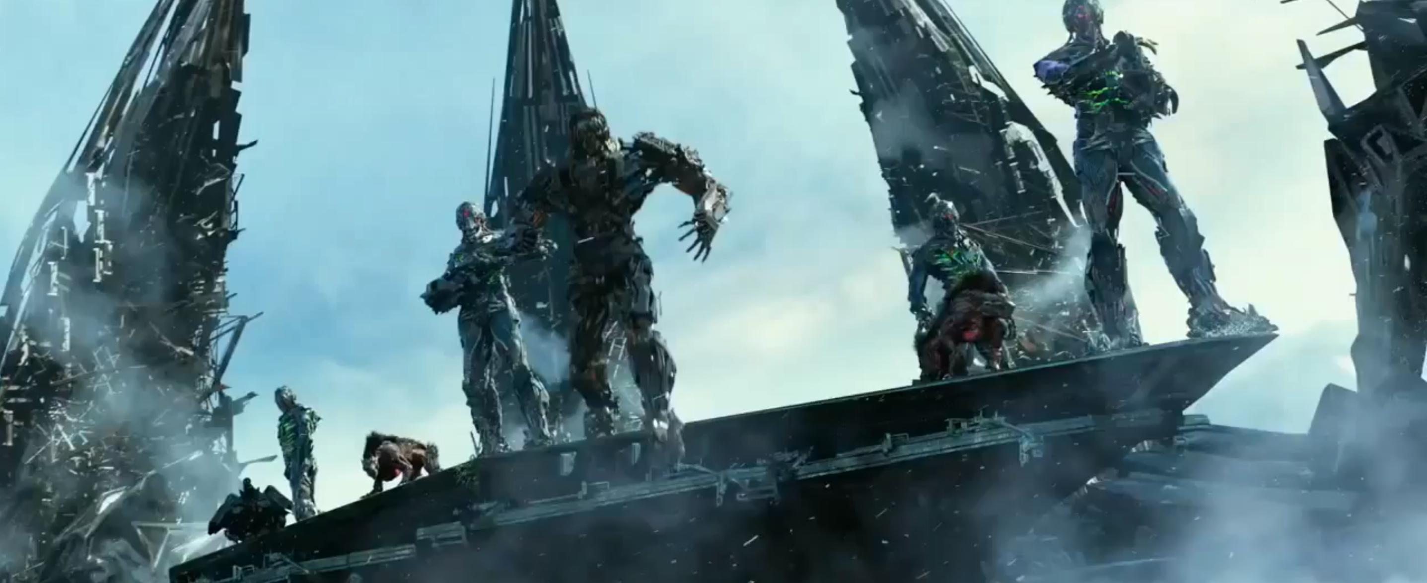 transformers 4: age of extinction – unicron, dinobots, quintessons