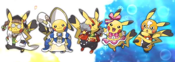 Smartness, Beauty, Coolness, Cuteness and Toughness Pikachu