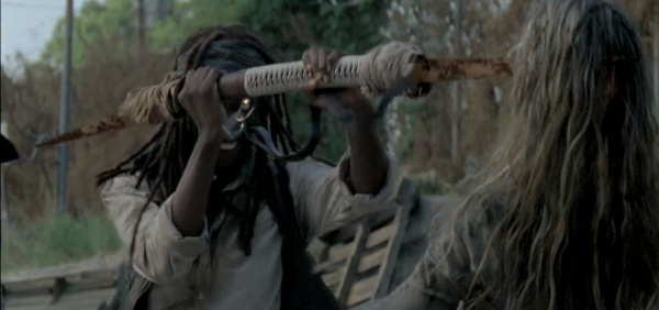 When is Michonne going to start dual wielding?