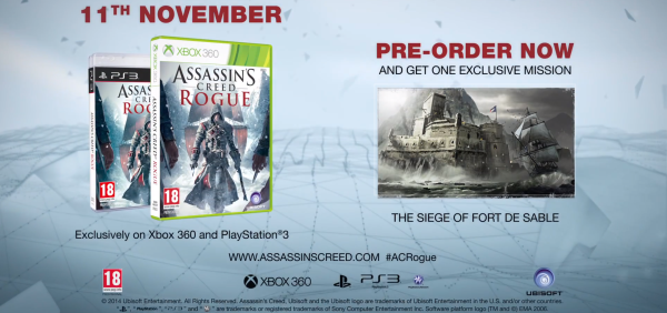 Assassins creed rogue preorder