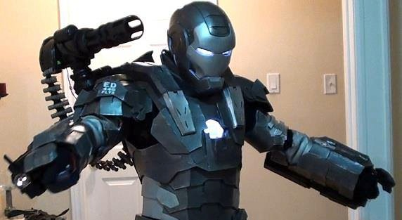 Motorized parts and lights make this a War Machine costume like no other.