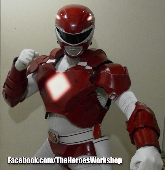Yes, that is an armored Red Ranger. Again, ANYTHING is possible!