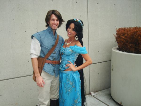 Jess has also been convincing her fiancé to join in on the cosplay fun - as you can tell by his awesome Flynn Rider costume