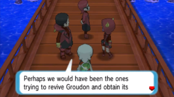 I hate to break it to you Maxie; but you kinda did! - Pokemon Alpha Sapphire Battle Resort screenshot
