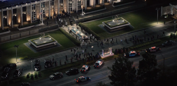 Employees can be seen fleeing Pym Technologies. Looks like Ant-Man might have some trouble with the law