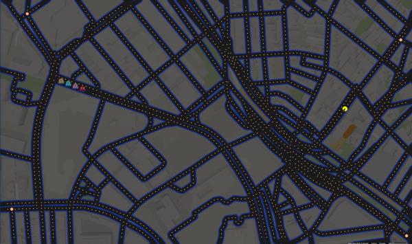 Google Map PacMan
