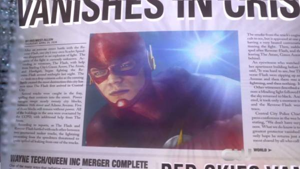 The Flash The Trap  Newspaper
