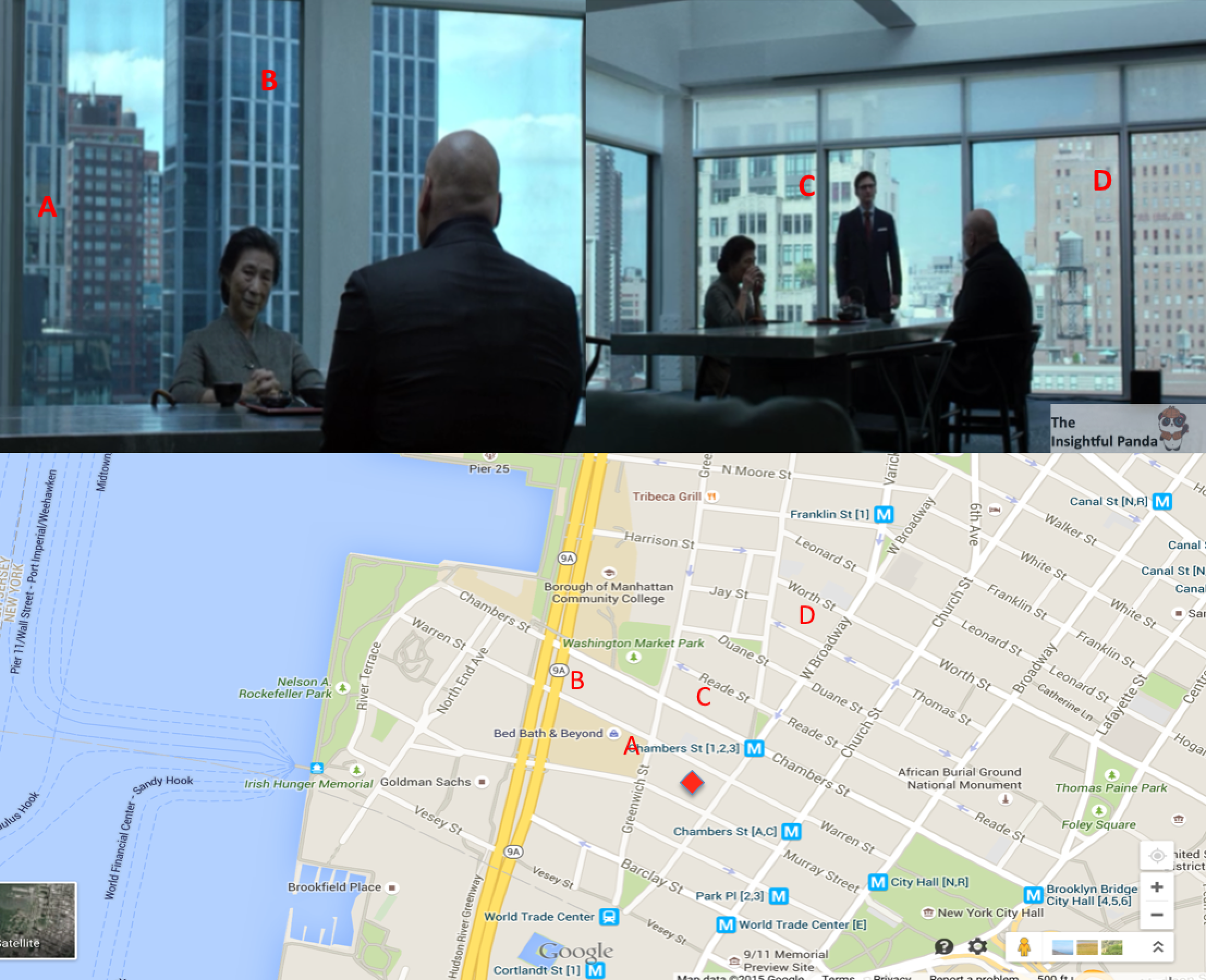 Building locations and water view all align perfectly as Fisk s dinning  room faces North WestMarvel s Daredevil   Fact Vs Fiction  Recreating Hells Kitchen  . Panda Kitchen Bath Locations. Home Design Ideas