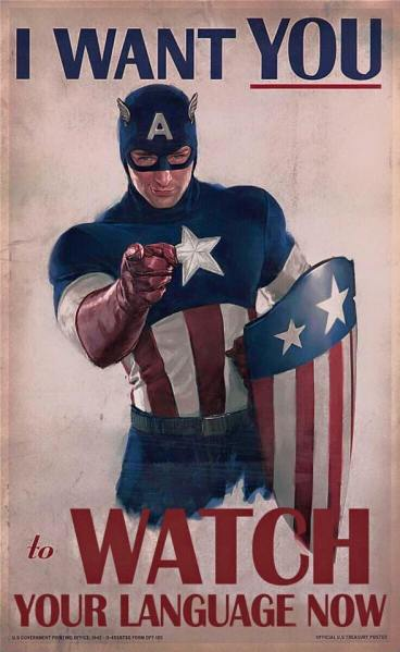Age of Ultron Captain America Language