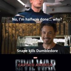 You've gone too far Tony Harry Potter Civil War Meme