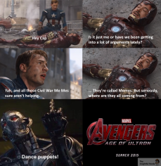 Ultron starts Civil War Meme