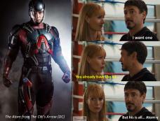 The Atom DC Arrow Meme