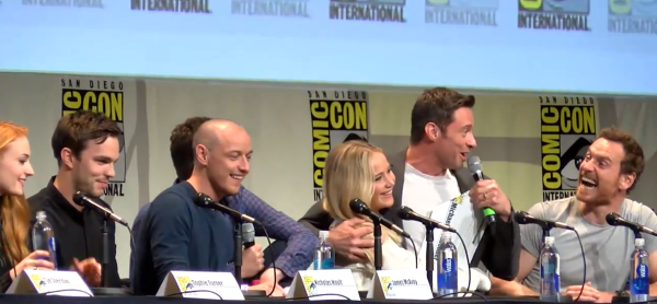 SDCC Xmen Hugh Jackman Jennifer Lawrence