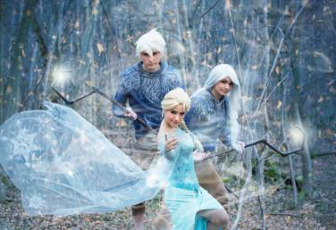 Elsa (Lily On The Moon) Jack (R Cosplay) & Jackie (Nuna) Frost