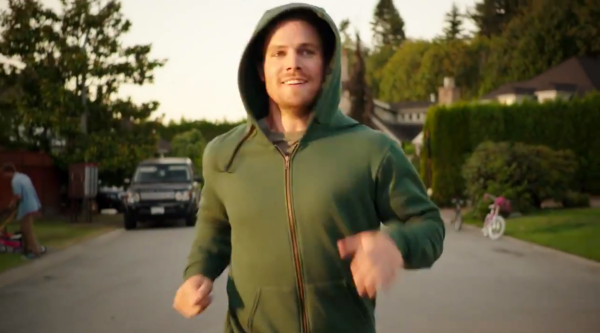 Really Oliver? Do you not own any clothes beside Green Hoods?