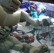 LEGO Avengers Scene For Scene Comparison