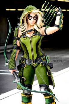 It's Raining Neon Green Arrow Cosplay