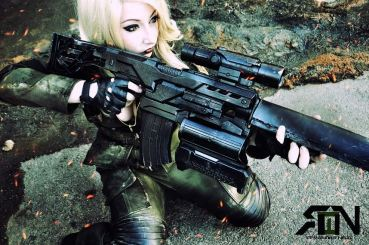 It's Raining Neon Sniper Wolf Cosplay