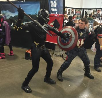 Heroes Villains Fan Fest NJ NY 2016 Black Panther Captain America Civil War Cosplay