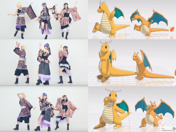 Pokemon Dance Comparison Gokuraku Jodo Charizard Dragonite